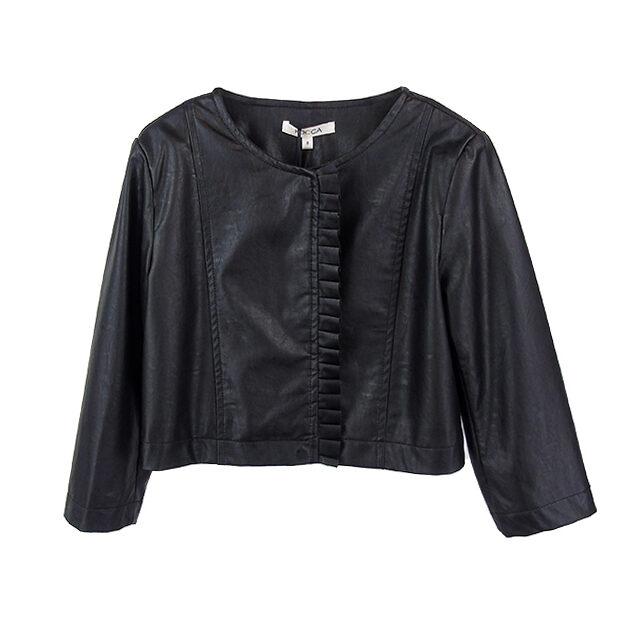 Giacca ecopelle nera Kocca | Abbigliamento bambina | VictoriaKids