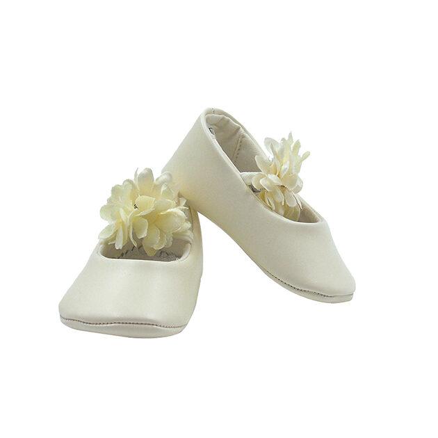 Ballerine da culla con fiore | Calzature neonato | VictoriaKids