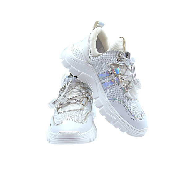 Sneakers vera pelle e tela Patrizia Pepe | Calzature bambino | VictoriaKids