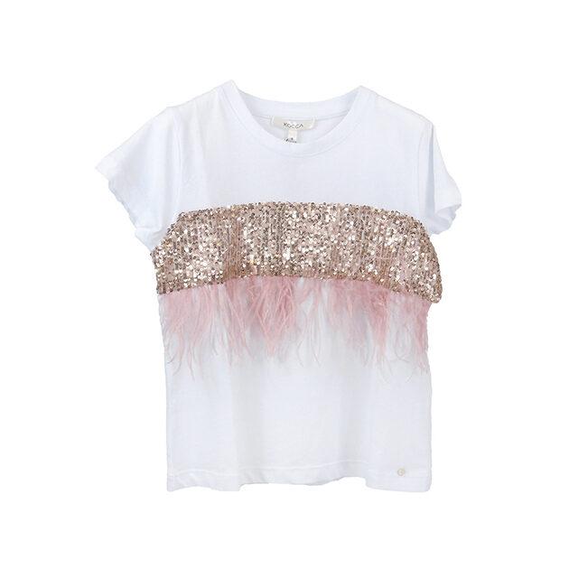 T-shirt piume KOCCA | Maglietta bambina | VictoriaKids