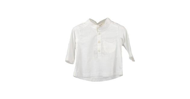 Maglia serafino bianca | Abbigliamento bambino | VictoriaKids