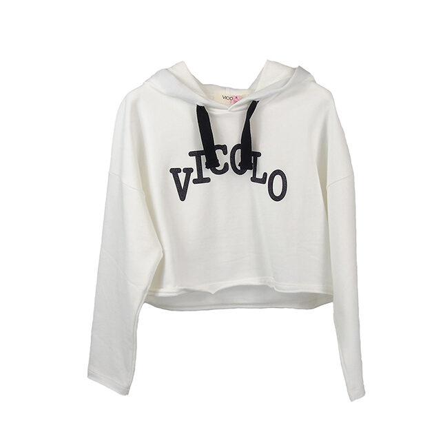 Felpa cropped Vicolo Girl | Abbigliamento bambino | VictoriaKids