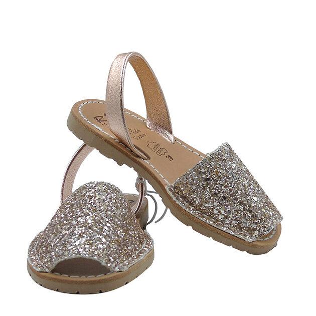 Minorchine Ria con glitter | Sandali bambina | VictoriaKids